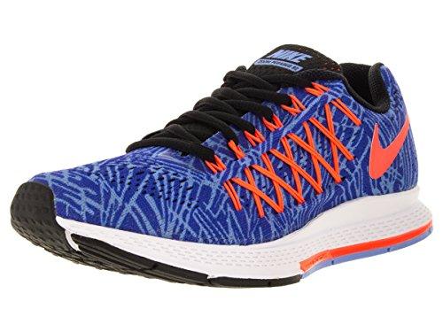 Nike Damen Wmns Air Zoom Pegasus 32 Print Laufschuhe, Azul (Racer Blue/Hypr Orange-Chlk Bl), 36 1/2 EU