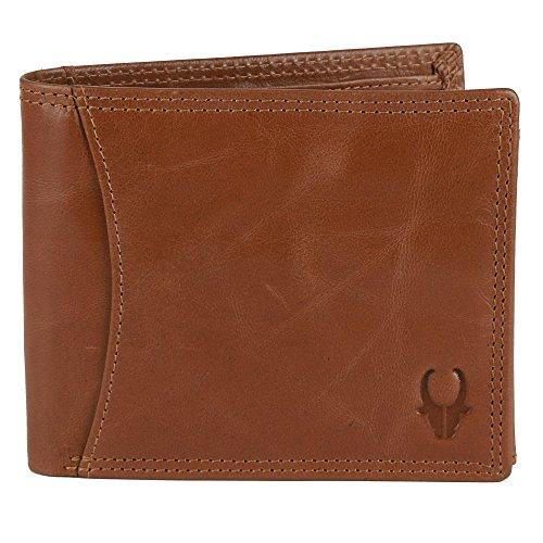 WildHorn® 100% Genuine High Quality Mens Leather Wallet (TAN Crunch)