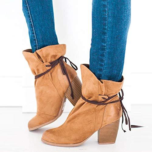 Plates Femme Chaussures Bottines Jaune Haut Bottes Osyard Moto Tessons Cuisses Et Lacets De xCIUXq