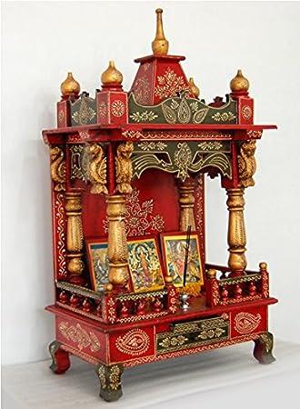 Buy Temple Home Temple Puja Mandir Lifeestyle Handpainted Wooden