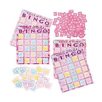 Amazoncom 2 Valentines Day Bingo Game Setsclassroomschoolparty