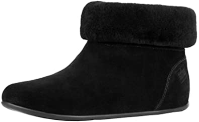 be0dc1564a752 FitFlop™ Womens Sarah Trade  Shearling Slipper Booties (Suede)