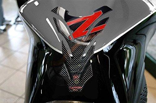 PARASERBATOIO STICKER 3D SERBATOIO compatibile MOTO KAWASAKI Z750 Z1000 ROSSO Unbranded