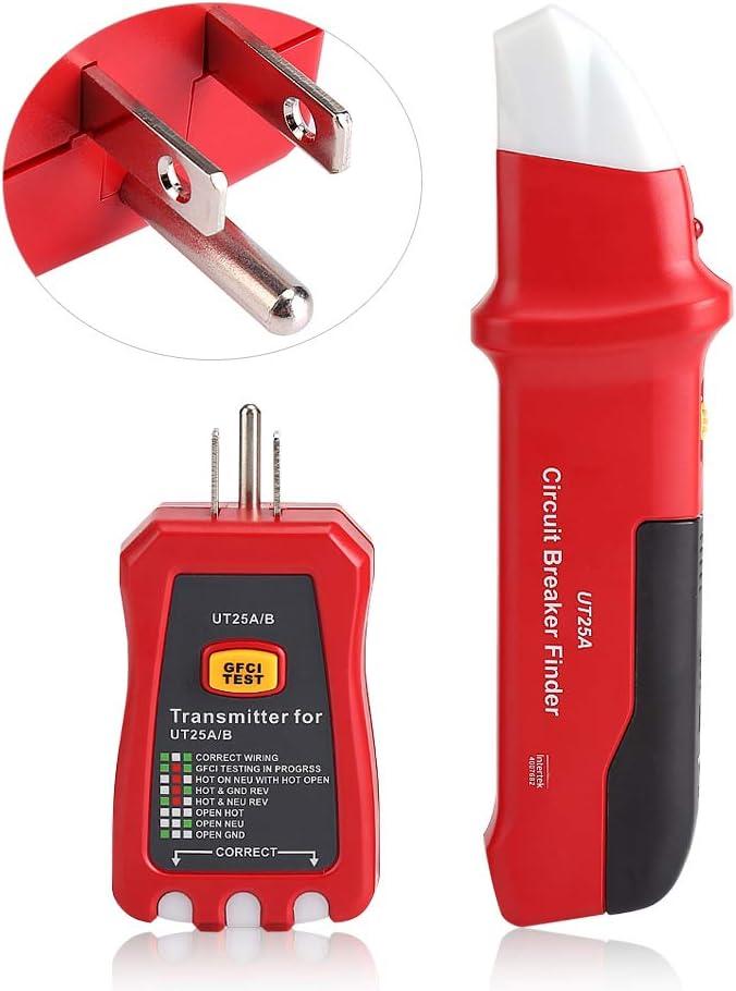 Outil de Diagnostic de testeur de Prise r/églable de sensibilit/é de d/étecteur de disjoncteur Professionnel Qinlorgo Traceur de disjoncteur