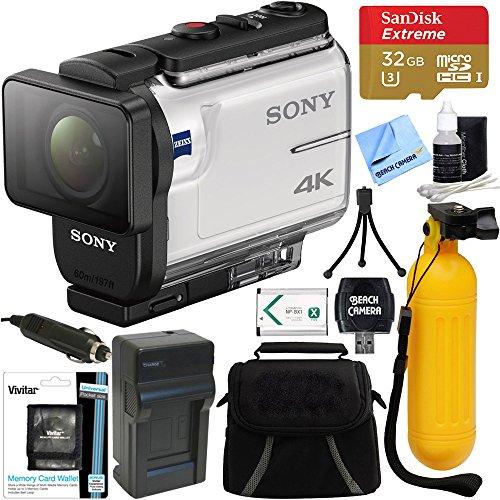- Sony FDR-X3000 4K Wi-Fi GPS Action Camera with Balanced Optical SteadyShot + 32GB Memory Card & Accessory Bundle