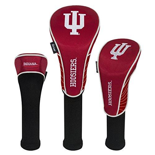 Team Effort Indiana Hoosiers Set of Three Headcovers - Indiana Hoosiers Golf Headcover