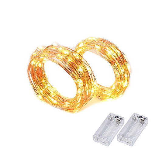 2 Set String Lights Easter Decorations Battery Powered Fairy Lights FoYoung 16.4ft...