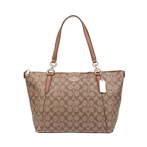 Coach Ava Tote Bag In Signature Khaki Saddle
