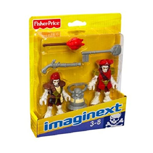 Fisher-Price Imaginext Pirate Ship Skeleton Pirate Captain & Officer