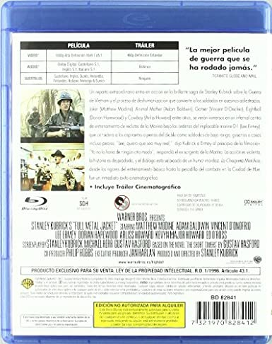 Amazon.com: La Chaqueta Metálica (Blu-Ray) (Import Movie) (European Format - Zone B2) (2007) Arliss Howard; Adam Baldwin;: Movies & TV