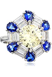 CZ by Kenneth Jay Lane 10cttw Multi-Cubic Zirconia Ring, Size 7, 10 CTTW