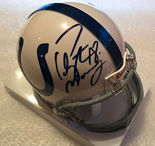 Peyton Manning Signed Autographed Indianapolis Colts Mini Football Helmet - COA Matching - Mall Indianapolis