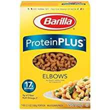 Barilla Protein Plus Elbow Pasta, 14.5 Ounce (Pack of 8)