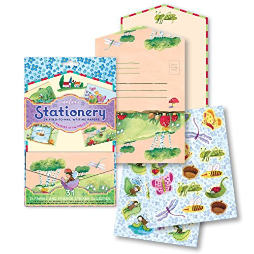 eeBoo Fairies of the Field Fold-to-Mail Stationery Set