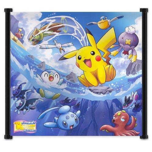 Pokemon Anime Fabric Wall Scroll Poster