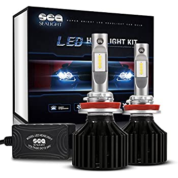 LED Headlight Bulbs H11/H8/H9 Conversion Kit ,SEALIGHT X2 Series DRL Low beam/Fog Light Bulbs - 16x CSP Les Auto Headlight LED Bulbs-8000LM 6000K Xenon White