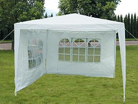 Viva Green - Tonnelle de jardin Sarah en polyester blanc - 3 ...