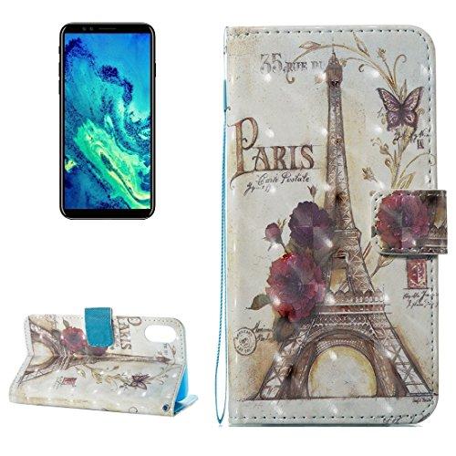 GR iPhone 8 Cover Case-Eiffelturm-Muster Flip Ledertasche mit Halter & Kartensteckplätze & Wallet & Lanyard, kleine Menge empfohlen, bevor das iPhone 8 startet ( SKU : Ip8g3237c )