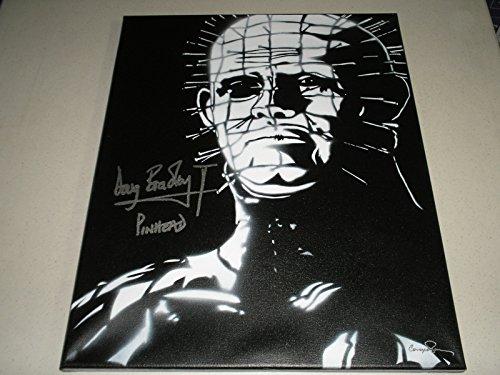 DOUG BRADLEY Signed 16x20 ORIGINAL Painting Art Autograph Pinhead Hellraiser (Hellraiser Autographed Poster)