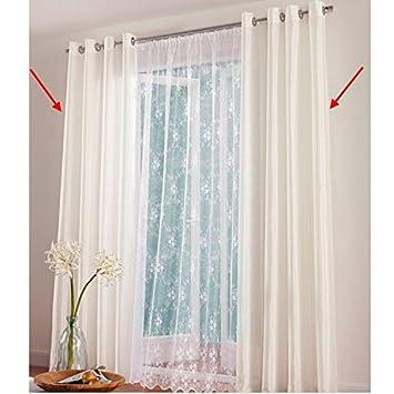 Fertigdeko Gardine 225x600 Cm Fenster Vorhang Store Kruselband Transparent Weiss