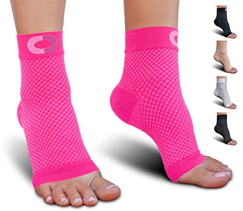 Plantar Fasciitis Sock with Arch Support for Men & Women - Best Ankle Compression Socks for Foot and Heel Pain Relief - Better Than Night Splint Brace, Orthotics, Inserts, Insoles (XXL, Pink)