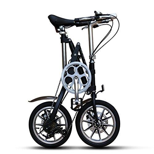 【送料無料】14インチ 自転車 折りたたみ 自転車 シマノ製7段変速機搭載 B07DH25957