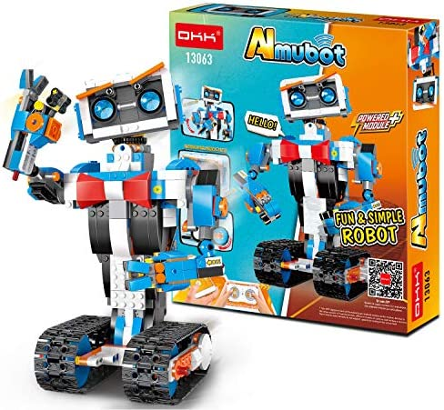 51k%2B5rJ6l4L. AC  - okk STEM Robot Building Block Toy for Kids, Remote and APP Controlled Engineering Science Educational Assembling Learning Kits Intelligent Rechargeable Creative Set for Boys Girls Gift (635 Pieces)