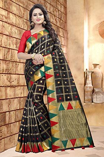 Nero Sari Progettista Facioun Tradizionale Sarees Donne Partywear Etnica Da Indiani wzqxU8I44