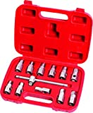 Generic 12pc Oil Drain Sump Plug Key Socket Set, Gearbox and Axel Removal Wrench