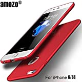Amozo All Sides Full Protection 360 Degree Sleek Rubberised Matte Hard Case Back Cover For Apple iPhone 6/iPhione 6S (Red)