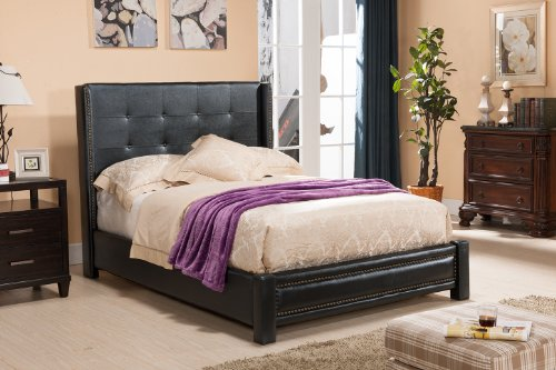 Vinyl Upholstered Bed - 5