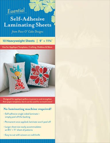 Essential Self-Adhesive Laminating Sheets: Use for Appliqué Templates, Crafting, Hobbies & More