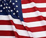 American Flag: Longest Lasting US Flag Made from Nylon - Embroidered Stars - Sewn Stripes - UV Protection Perfect for Outdoors! USA Flag