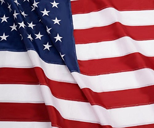 American Flag: Longest Lasting US Flag Made from Nylon - Embroidered Stars - Sewn Stripes - UV Protection Perfect for Outdoors! USA Flag (4x6 ft)