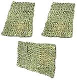 (3 Pack) Ware Natural Handwoven Grass Multi Small Pet Mats