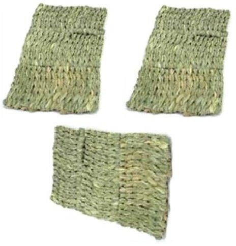 (3 Pack) Ware Natural Handwoven Grass Multi Small Pet Mats (Small Grass)