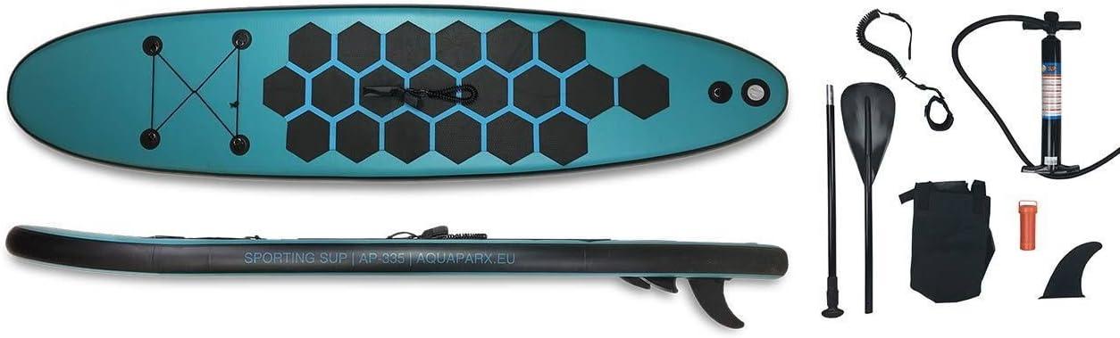 Aquaparx - Juego de Sup inflable, 335 x 76 x 14 cm, remo de ...