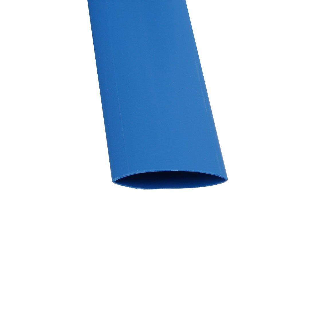sourcing map Longitud 6.6Ft Tubo Termoretr/áctil de 8mm Di/ám Interior de Envoltura de Cable con Aislamiento de Poliolefina Azul