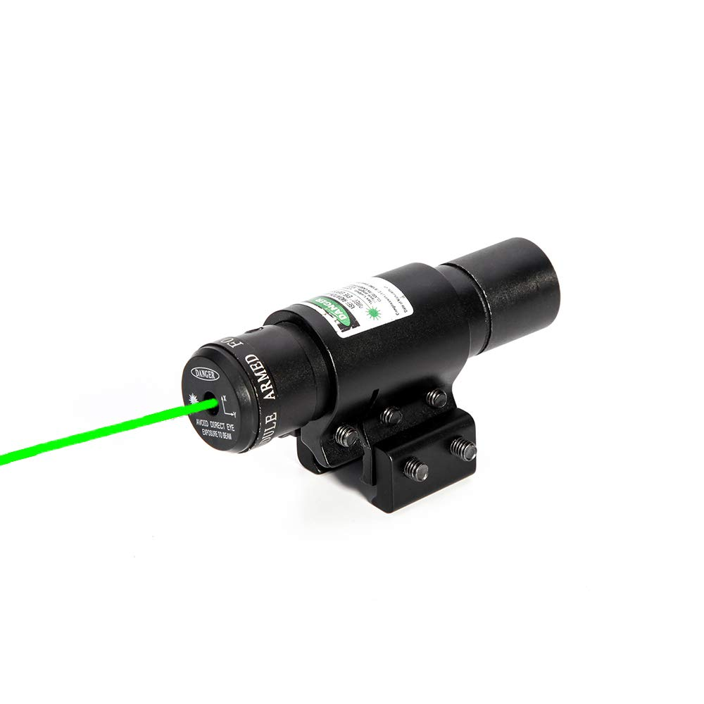 Ddartsgo Laser Sight 5mw Green Laser Sight Hunting Scope Outdoor Airsoft Laser Pointer with 20mm Dovetail Rail Collimator Sight by Ddartsgo
