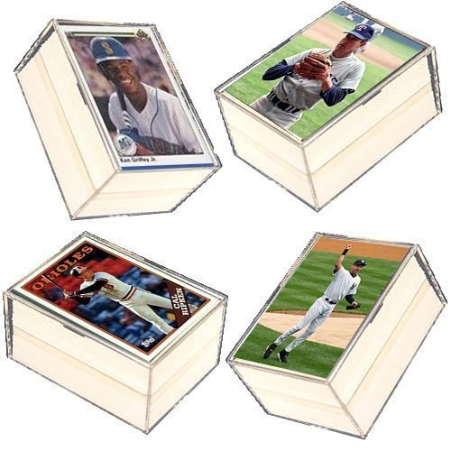 400 Card MLB Baseball Gift Set - w/ Superstars, Hall of Fame Players. Ships in 4 Plastic Storage Cases ! Every Case will include a Babe Ruth or Nolan Ryan card !