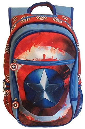 BB Designs Marvel Comics Civil War Captain America Shield Backpack (Blue/Red, One_Size)]()