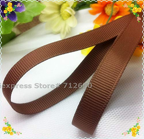 Jammas 3/8'' (9mm) Width Solid Grosgrain Ribbon Double Face Tape DIY hairbow Garment Bag Shoe Accessory Gift Wrapping Material 20 Yards - (Color: Turftan)