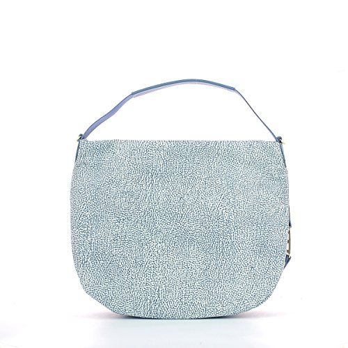 Borbonese borsa sotto spalla in jet op colore mare Light Blue