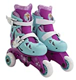 PlayWheels Disney Frozen Glitter Convertible 2-in-1 Skates, Junior Size 6-9
