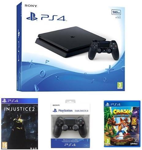 PS4 Slim 500 GB + DS4 Blanco + Crash: Amazon.es: Videojuegos