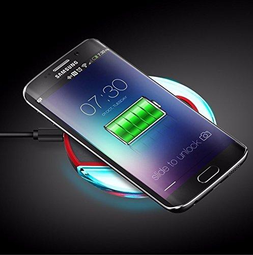 Rydges RQIC Wireless Induktive Ladestation Qi Charger Kompatibel mit Samsung Galaxy S6 / S6 Edge S7 / S7 Edge - ( Schwarz )
