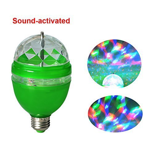 ASSEM 3W E27 Full Color RGB LED Auto Rotating Lamp Crystal Stage DJ Party Home Party Decoration Light Bulb 85-260V