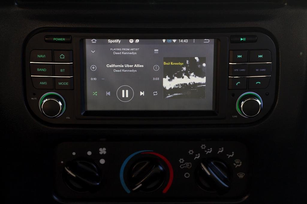 Insane Audio JK2001 2007 to 2017 Jeep Wrangler JK Perfect Factory Fit Multimedia Bluetooth Receiver with On//Off Road Navigation and Hi-Def Touch Display