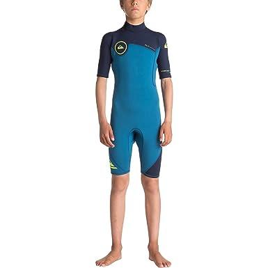 71c9de928 Quiksilver Boys 2 2Mm Syncro Series - Short Sleeve Back Zip Flt Springsuit  Short Sleeve