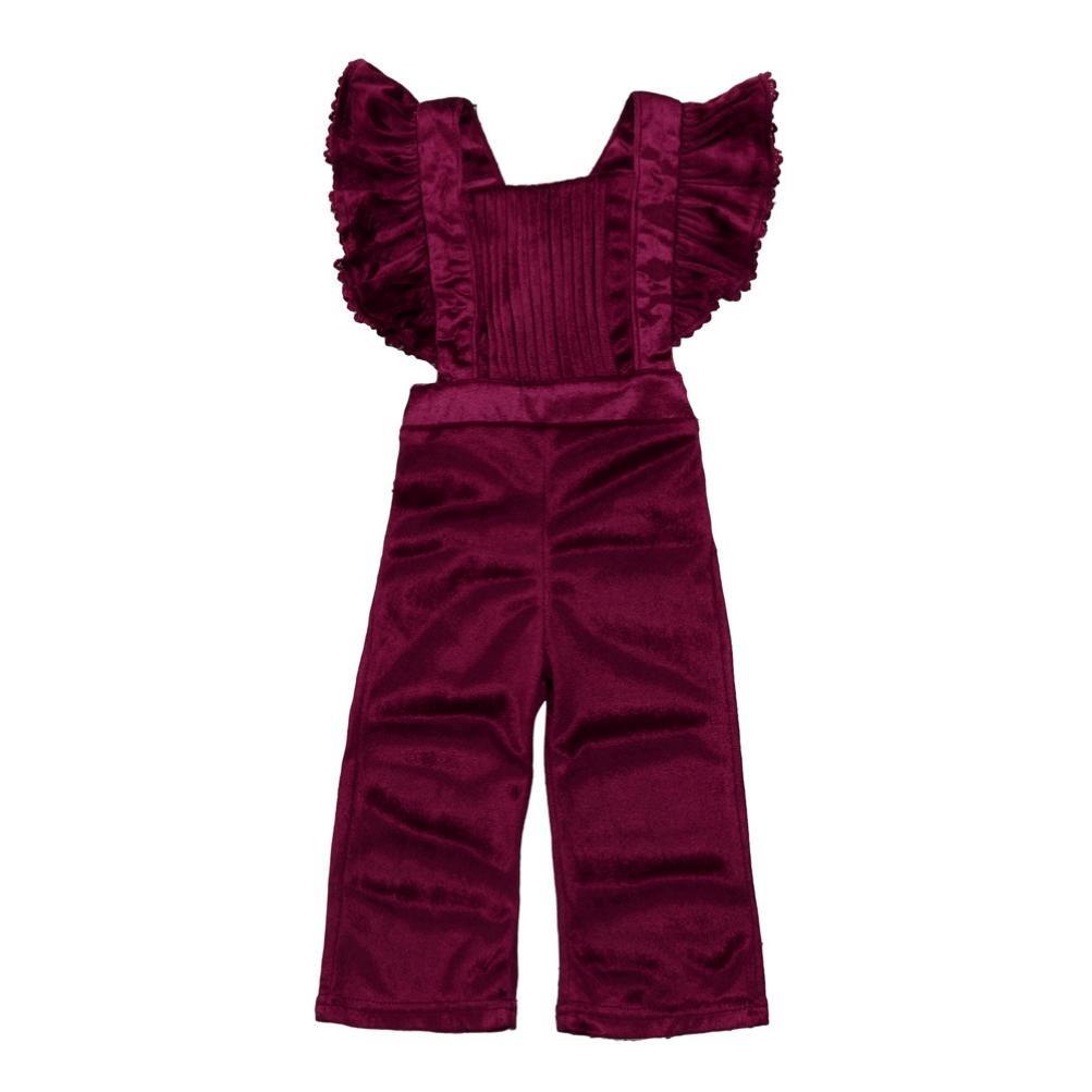 cd644c795136 Amazon.com  KONFA Toddler Baby Girls Solid Color Backless Velvet ...
